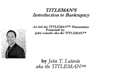 Titleman's Bankruptcy