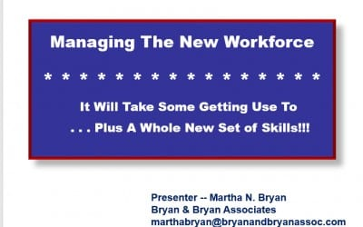 Managing New Workforce Presentation